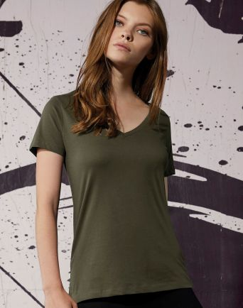 B&C V Neck Organic Women's T-Shirt